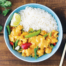 Vegan Penang curry with rice