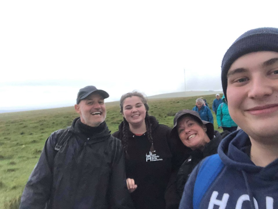 The team completing the 13-mile Dartmoor Midnight Walk