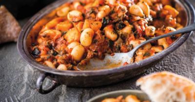 Gluten-free Butter bean, Sweet Potato & Spinach Stew
